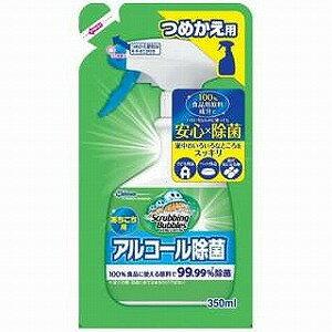 ジョンソン キッチン用洗剤 スクラビングバブル アルコール除菌 あちこち用 つめかえ用 350ml