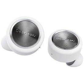 DEAREAR ブルートゥースイヤホン 左右分離タイプ[防汗仕様/マイク対応]カナル型(ホワイト/シルバー) END EAR White/Silver