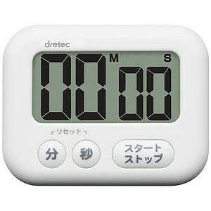 ドリテック キッチン大画面タイマー「シャボン」 T−541WT