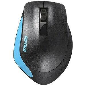 バッファロー Premium Fitマウス 無線/BlueLED光学式/静音/3ボタン/Mサイズ BSMBW300MBL (ブルー)