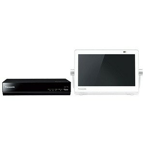 パナソニック 10V型 ポータブルテレビ プライベートビエラ UN−10T7−W ホワイト(500GB内蔵HDDレコーダー付)(送料無料)