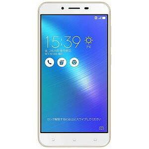 ASUS 5.5型ワイド・メモリ/ストレージ:3GB/32GB・SIMフリースマートフォン Zenfone 3 Max ゴールド「ZC553KL−GD32S3」(送料無料)