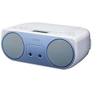 東芝 ワイドFM対応CDラジオ (ラジオ+CD) TY−C150L (ブルー)