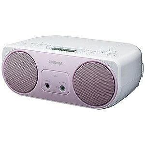 東芝 ワイドFM対応CDラジオ (ラジオ+CD) TY−C150P (ピンク)