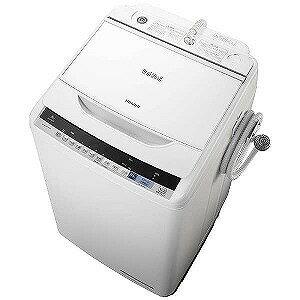 日立 全自動洗濯機 (洗濯8.0kg)「ビートウォッシュ」 BW−V80B−W (ホワイト)(標準設置無料)