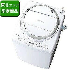 東芝 洗濯乾燥機 (洗濯8.0kg/乾燥4.5kg) 「洗濯槽自動お掃除・ヒーター乾燥機能付」 AW−8V6−S メタリックシルバー(標準設置無料)