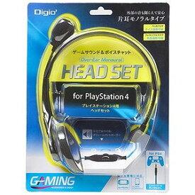 ナカバヤシ PS4対応 ゲーム用 オーバーイヤーヘッドセット (モノラルタイプ) MHM−MGM22BK