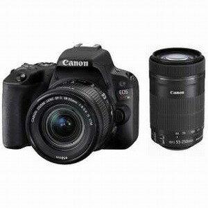 Canon デジタル一眼 EOS Kiss X9(B)【ダブルズームキット】 (ブラック/デジタル一眼レフカメラ) EOSKISSX9BKWKIT(送料無料)