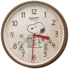 リズム時計工業 掛け時計「スヌーピー」 8MGA40−M06