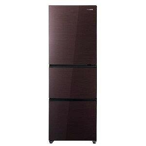 ハイセンス 3ドア冷蔵庫(282L・右開き) HR−G2801−BR ダークブラウン(標準設置無料)
