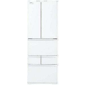 東芝 6ドア冷蔵庫 (462L・フレンチドア) 「べジータFWシリーズ」 GR−M460FW−ZW クリアシェルホワイト(標準設置無料)