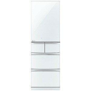 三菱 5ドア冷蔵庫「置けるスマート大容量 Bシリーズ」 (455L・右開き) MR−B46C−W クリスタルピュアホワイト(標準設置無料)
