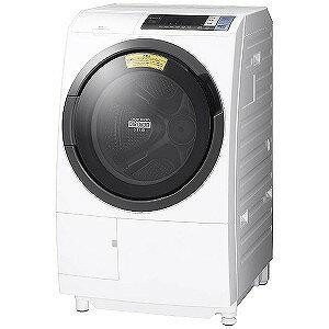 日立 ドラム式洗濯乾燥機 (洗濯10.0kg・左開き)「ヒートリサイクル 風アイロン ビッグドラム」 BDSG100BL−Wホワイト (洗濯槽自動お掃除・ヒーター乾燥機能付)(標準設置無料)