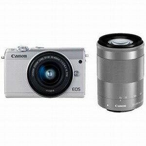 Canon ミラーレス一眼 EOS M100【ダブルズームキット】 EOS M100(ホワイト)(送料無料)