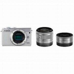 Canon ミラーレス一眼 EOS M100【ダブルレンズキット】 EOS M100(ホワイト)