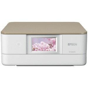 EPSON A4インクジェット複合機 コンパクト&スタイリッシュ(ニュトラルベージュ)[無線LAN/有線LAN] EP−880AN(送料無料)