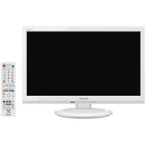シャープ 19V型 ハイビジョン液晶テレビ AQUOS(アクオス) LC−19P5−W ホワイト (別売USB HDD録画対応)(送料無料)