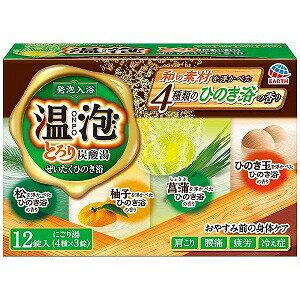 アース製薬 温泡ONPO とろり炭酸湯ぜいたくひのき浴12錠入