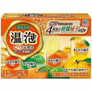アース製薬 温泡ONPO とろり炭酸湯ぜいたく柑橘柚子12錠入