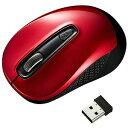 サンワサプライ 無線BlueLEDマウス[USB・Mac/Win](3ボタン・レッド) MA−WBL41R