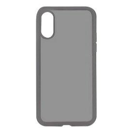 オウルテック iPhone X用 ハイブリット背面ケース PCxTPU クリアブラック OWL−CVIP816CBK