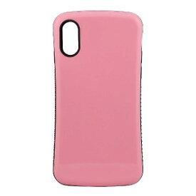 オウルテック iPhone X用 耐衝撃背面ケース ライトピンク OWL−CVIP831LP