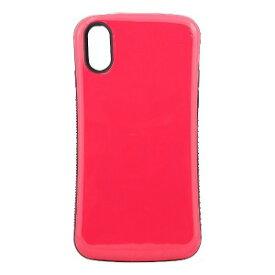オウルテック iPhone X用 耐衝撃背面ケース ピンク OWL−CVIP831PK