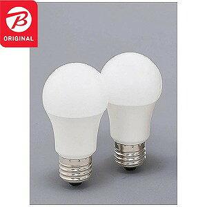 アイリスオーヤマ 調光器非対応LED電球 (全光束810lm/電球色相当・口金E26/2個入) LDA8L−G−62BK