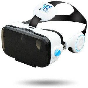フューチャーモデル スマートフォン用[4.0〜6.0インチ] ヘッドセット一体型VRゴーグル TVR−50WH(FaC) ホワイト(送料無料)