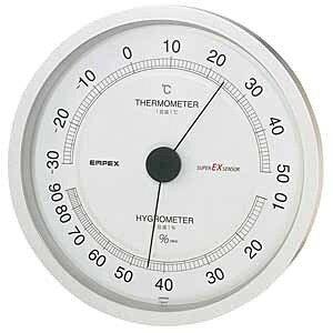 エンペックス 壁掛用高品質温湿度計 EX−2747(シャインシルバー)EX2747/EXオンシツドケイ