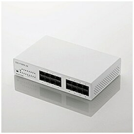 エレコム 10/100Mbps対応スイッチングHub/16ポート/プラスチ EHCF16PNJW