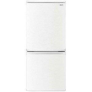 シャープ 2ドア冷蔵庫 (137L) SJ−D14D−W ホワイト(標準設置無料)