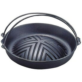 岩鋳 《IH非対応》 岩鋳 焼肉ジンギスカン鍋 (ツル付)23−006 29cm <QGV2301>