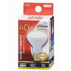 オーム電機 LED電球 (ミニレフ形・全光束362lm/電球色相当・口金E17) LDR3LWE17 A9