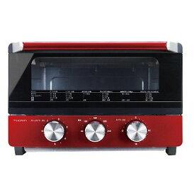 ドウシシャ オーブントースター スチーム機能付き [1300W/食パン4枚] OTS−131−RD レッド