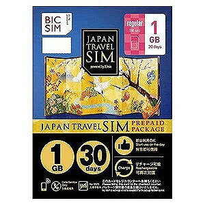 IIJ 標準SIM 「BIC SIMジャパントラベルパッケージ 1GB」  IMB228