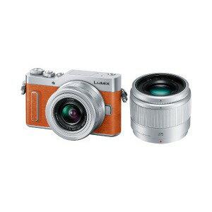 パナソニック ミラーレス一眼カメラ LUMIX GF10(ダブルレンズキット) DC−GF10W−D(オレンジ)(送料無料)