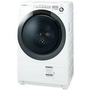 シャープ ドラム式洗濯乾燥機 (洗濯7.0kg/乾燥3.5kg/左開き) ES−S7C−WL ホワイト系(標準設置無料)