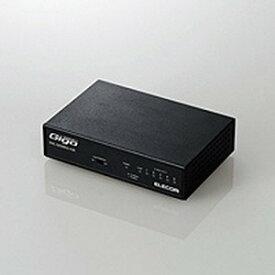 エレコム Giga対応スイッチングHub/5ポート/金属筐体/磁石付き/電源内蔵モデル EHC−G05MN2−HJB