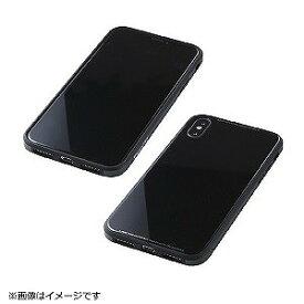 I・O・DATA iPhoneX用 TPU+アルミ+ガラスケース ブラック BKS−IPXUNC01BK