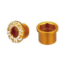 KCNC チェーンリング ボルト M8.5×0.75×6ボルト/M8.5×0.75×7ナット 263109(ゴールド)ダブル用 5PCS