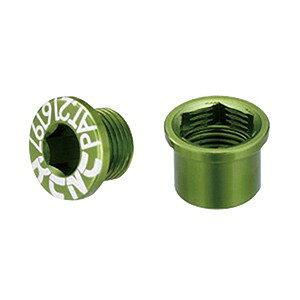 KCNC チェーンリング ボルト M8.5×0.75×4.5ボルト/M8.5×0.75×4.5ナット 263116(グリーン)シングル用 5PCS