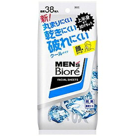 花王 MEN's Biore(メンズビオレ) 洗顔シート クール 卓上用(38枚)〔その他洗顔〕