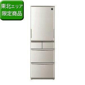 シャープ 5ドア冷蔵庫 (412L) SJ−W412D−S シルバー系(標準設置無料)