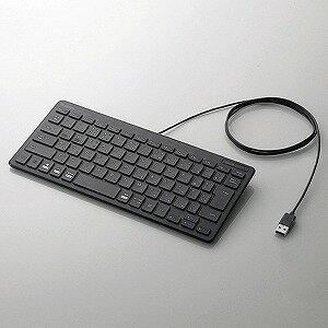 エレコム 有線ミニキーボード/パンタグラフ式/ブラック TK−FCP096BK