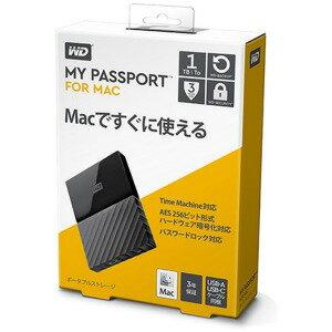 ウエスタンデジタル ポータブルHDD 1TB[USB−A 3.0・Mac] My Passport WDBFKF0010BBK−JESE ブラック(送料無料)