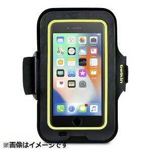ベルキン iPhone 8用 Sports Fitアームバンド ブラック/イエロー F8W845btC00