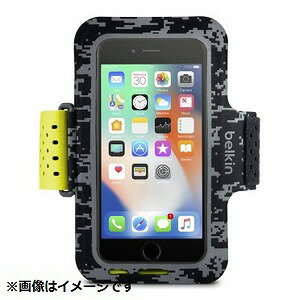 ベルキン iPhone 8用 Sports Fit Proアームバンド ブラック/イエロー F8W847btC00