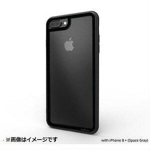 iPhone 8 Plus用 LINKASE CLEAR Gorilla Glass ATLCGIP8P7P/BLK ブラック縁・ブラックTPU(送料無料)
