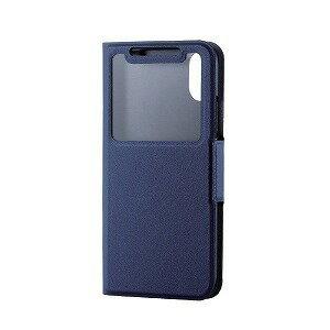 エレコム iPhoneX 手帳型 ソフトレザーカバー 薄型 窓付 磁石付 PM−A17XPLFWTNV